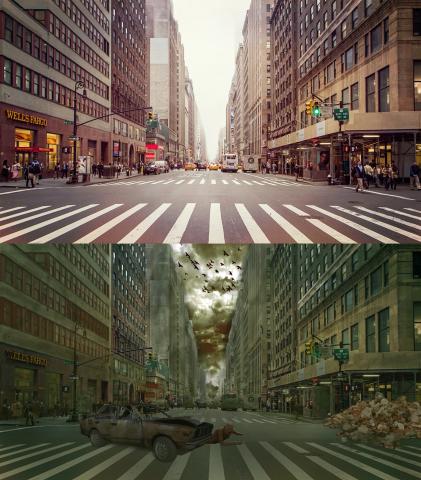 fotomontaż przed i po