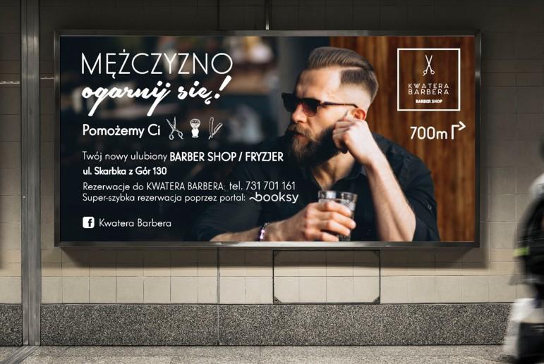 Billboard dla marki Kwatera Barbera